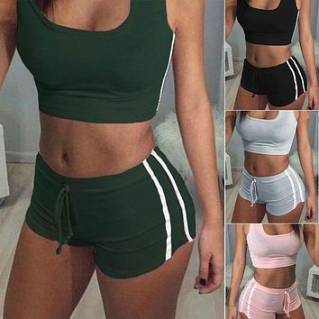 NEW Women 2Pc Clothes Sets Ladies Clubwear Summer Tops And Short Pants Women Ladies Fasion Sets Clothes