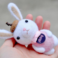 personalized easter bunny decor, personalized baby gifts bunny doll, bunny baby shower, needle felt animal, personalized bunny, amigurumis