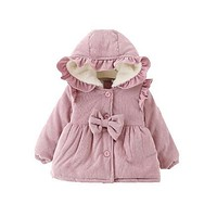 Fashion Baby Jacket Winter Girls Outwear Casual Hooded Coats Kids Jackets toddle infant Girl Clothes Autumn