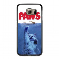 PAWS Movie Parody Funny cat attack For samsung galaxy s6 case