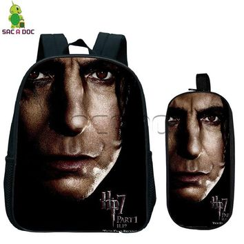 Toddler Backpack class Harry Potter and Deathly Hallows Backpack for Boys Girls Kindergarten Bag Children School Bags Small  Best Gift AT_50_3