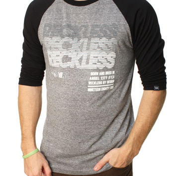 Young And Reckless Men's Rendered Raglan Graphic T-Shirt