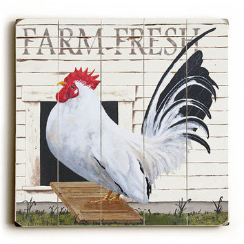 Farm Fresh by Artist Art Poulin Wood Sign