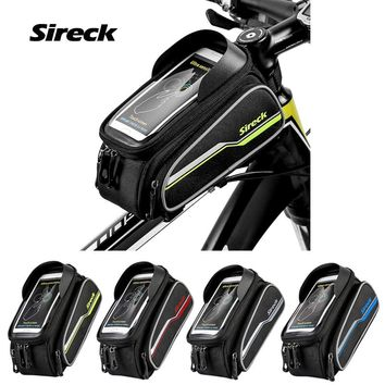 """Sireck MTB Bicycle Front Frame Bag 6.0"""" Mountain Bike Bag Touchscreen Phone Saddle Bag Cycling Top Tube Pouch Accessories 2017"""