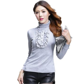 2017 Autumn Winter Women Sweater Turtleneck Thick Cotton Knitted Oversized Sweater Plus Size XXXXL Women Clothing Pullovers