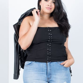 Plus Size Party Time Tube Top