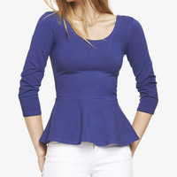 ZIP BACK PEPLUM TOP from EXPRESS