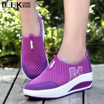 2017 women creepers platform shoes woman ladies trainers shoes height increasing chaussure femme swing shoes women
