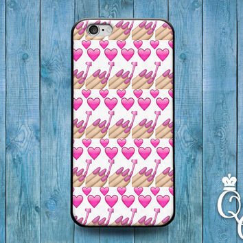 iPhone 4 4s 5 5s 5c 6 6s plus iPod Touch 4th 5th 6th Generation Cute Emoji Pink Nail Polish Girly Girl Phone Cover Funny Pattern Design Case
