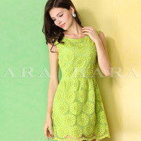 Free shipping Spring dress dresses 2014 new women's clothing of spring clothing Sunflower lace embroidery summer dress