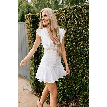Enchanted Dreams Crochet Dress (Off White)