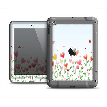 The Field of Blooming Hearts Apple iPad Air LifeProof Nuud Case Skin Set