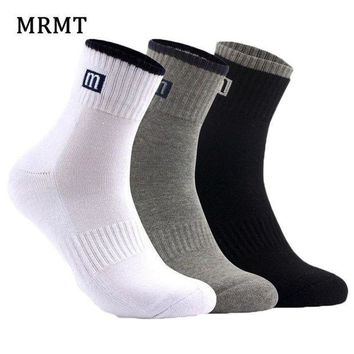 PEAPFS2 3 pairs /lot Winter Autumn 100% cotton socks men and women socks Pure color male socks Free Shipping 3 colors hot sale 2018 MRMT