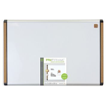 Magnetic Dry Erase Board with Plastic Frame - White