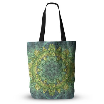 "Art Love Passion ""Fairy Mandala"" Green Yellow Everything Tote Bag"