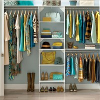 "SuiteSymphony 84""W - 120""W Closet System with Top Shelves"