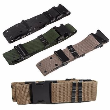 1Pc Adjustable Survival Emergency Rescue Rigger Tactical Belt Military Waistband