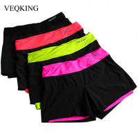 VEQKING Fashion Women Shorts,Lined Anti-Emptied Stretch Female Short Pants Breathable Sportwear Slim Sweat Shorts