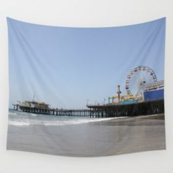 Santa Monica Pier Wall Tapestries Collection By Christine Aka Stine1 | Society6