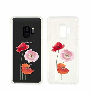 Cute Poppy Transparent Silicone Plastic Phone Case for Samsung Galaxy S8 Phone_ SUPERTRAMPshop (Samsung S8)