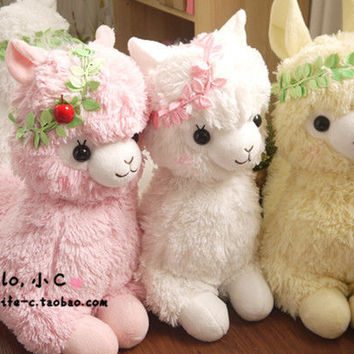 2013 Big Amuse Arpakasso Alpacasso Alpaca White Girl / Boy Eden Kid Plush Doll
