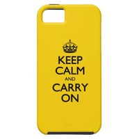 Canary Keep Calm And Carry On iPhone 5 Cover