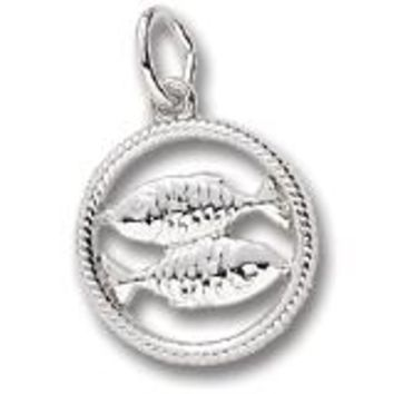 Pisces Charm In Sterling Silver