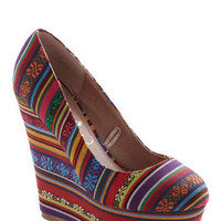 Colorful of Life Wedge | Mod Retro Vintage Wedges | ModCloth.com