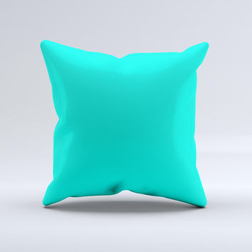 Solid Mint V2  Ink-Fuzed Decorative Throw Pillow