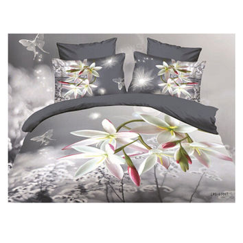 3D Queen King Size Bed Quilt/Duvet Sheet Cover Cotton reactive printing 4pcs 1.8M bed 31