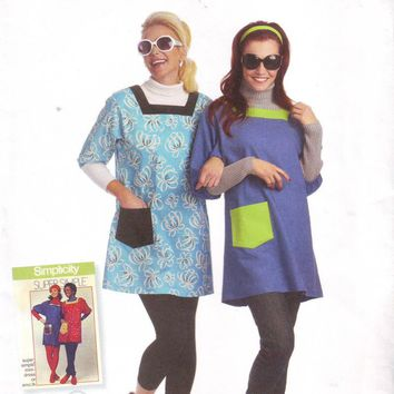 Simplicity 2950 Uncut Smock Mini Dress Sewing Pattern Size 6-24 Super Simple