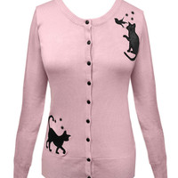Voodoo Vixen Elise Cat Cardigan Sweater