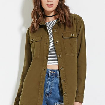 Buttoned Cargo Jacket