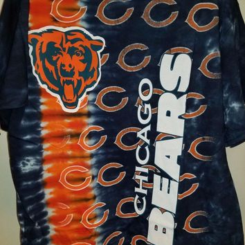 New CHICAGO BEARS  VERTICAL Tie Dye T Shirt LICENSED APPAREL NFL