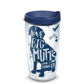 Tervis Project Paws Big Mutts with navy lid, 16 oz. tumbler