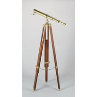 A. A. Importing 51327 Polished Brass Telescope