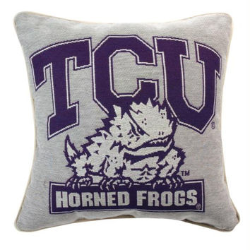 Throw Pillow - Texas Christian University Horned Frogs
