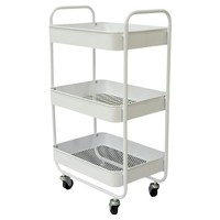 Room Essentials metal utility cart with metal mesh tray, white