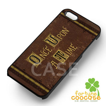 Storybrooke Once upon a time Book Cover Phone Case -swn for iPhone 6S case, iPhone 5s case, iPhone 6 case, iPhone 4S, Samsung S6 Edge