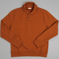 homecore - paulo shawl collar sweatshirt caramel