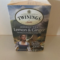 Disney Beauty & the Beast Lemon & Ginger Twinings 20 Tea Bags New with Box