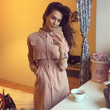 Shirt Hot Sale Shaped Women's Fashion One Piece Dress [9698343055]