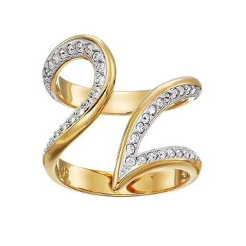 Swarovski pt950 logo High 2018 New ring Serpenti ring diamond drill hollowed out S925 Sterling Silver 18 K gold Lovers ring