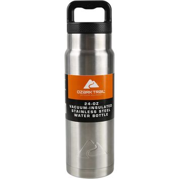 Ozark Trail 24 oz Double Wall Vacuum Stainless Steel Water Bottle