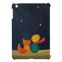 The Little Prince and Fox Looking at Starry Night iPad Mini Case from Zazzle.com