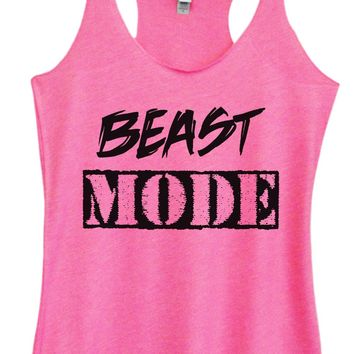 Womens Tri-Blend Tank Top - Beast Mode