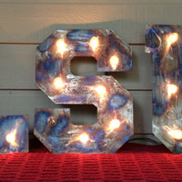 Marquee lighted Letters LSU 18 inches Tall