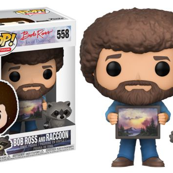 Funko Pop! Television: Bob Ross with Raccoon