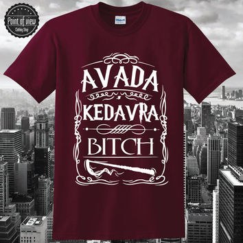 Unique Men Harry Potter Spell Avada Kedavra T Shirt Short Sleeve Women T Shirt Fashion Avada Kedavra Lady T-shirts tumblr Brand New