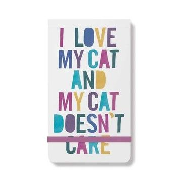 Cat Doesn't Care Purse Notepad, Assorted Cats by Fringe